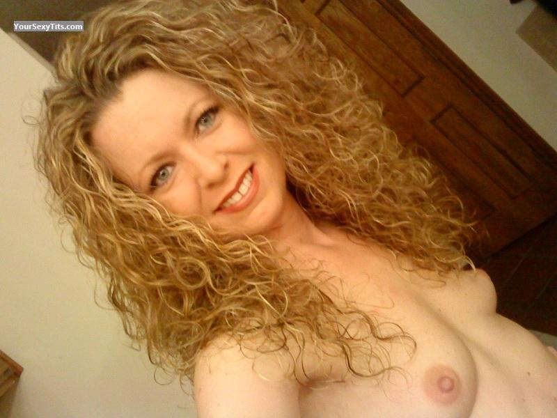 Tit Flash: My Medium Tits (Selfie) - Topless Texas Girl from United States